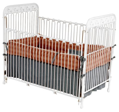 White Iron Cribs by White Iron Crib With Bow Accents
