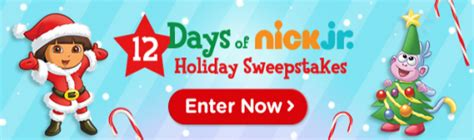 Nick Sweepstakes - the 12 days of nick jr holiday sweepstakes win a 1 000 nickshop shopping spree