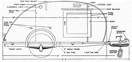 teardrop cer floor plans the phenomenon of teardrop trailers vogel talks rving