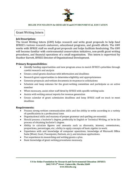 Sample Resume Objectives For Nonprofit Organizations by Belize Foundation For Research And Environmental Education