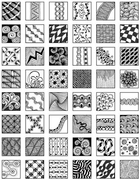 pattern drawing easy zentangle patterns for beginners bing images pinteres