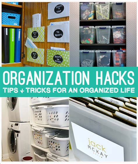 organizing hacks organization hacks