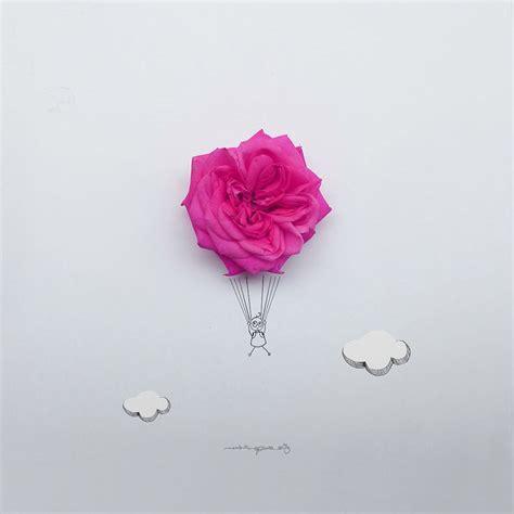fiori illustrazioni fiori e oggetti di uso quotidiano vengono trasformati in