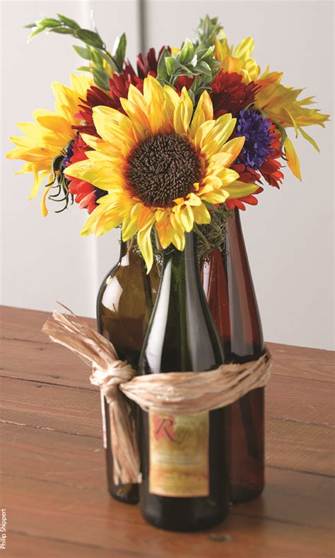 wine bottle centerpieces picmia