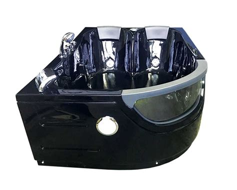 vasca nera vasca idromassaggio angolare 180x120 nera 9 getti