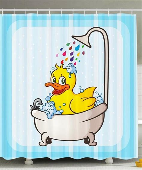 Rubber Duck Fabric Shower Curtain : Rubber Duck Shower Curtain Can Give Your Bathroom ? Home Design