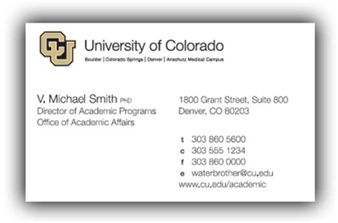 unc business card template business cards colorado images card design and card template