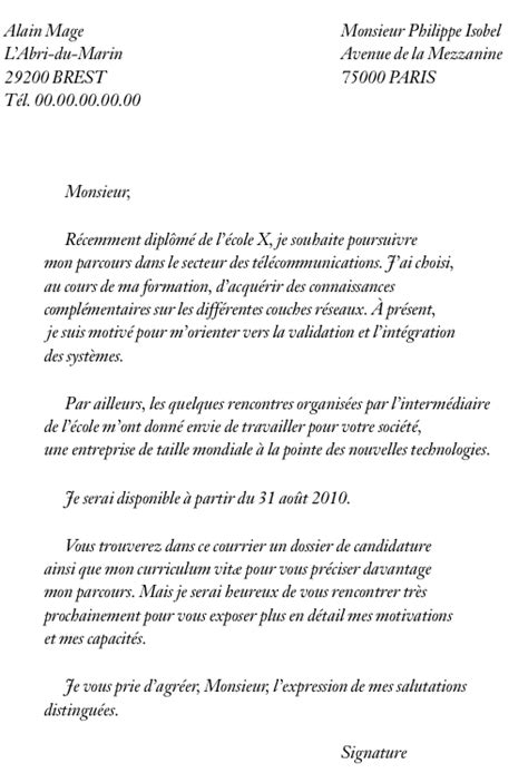 Lettre De Motivation Ecole Ingenieur Post Bac Lettre De Motivation Ecole Le Dif En Questions