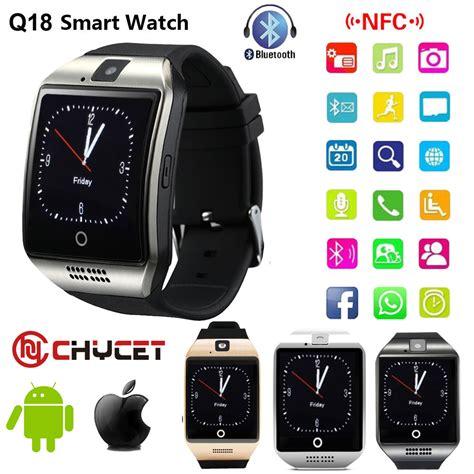 Smartwatch Sim Card 2017 bluetooth smart q18 smartwatch support nfc sim