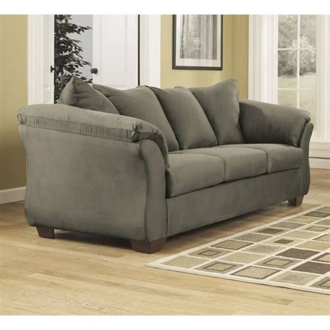 ashley darcy sofa ashley darcy fabric full size sleeper sofa in sage 7500336