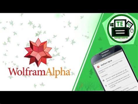wolframalpha apk descargar e instalar wolfram alpha apk android