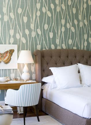 Wallpaper Headboards by Modern Wallpaper Lovely Green Brown White Bedroom