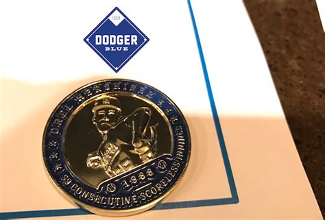 Dodger Giveaway Schedule 2017 - orel hershiser 2017 coin giveaway dodgerblue com