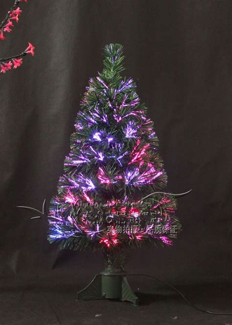 90cm christmas trees pine needle tree fiber optic tree