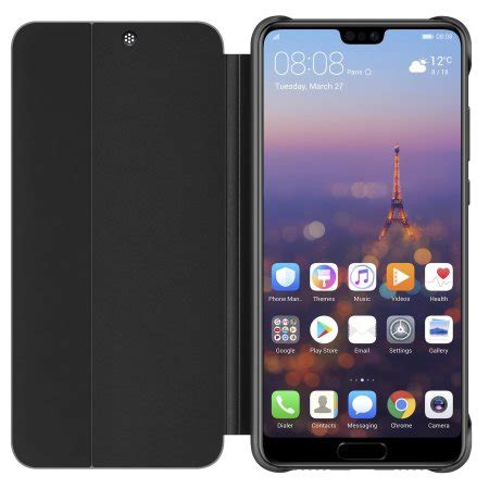 official huawei p pro smart view flip case black