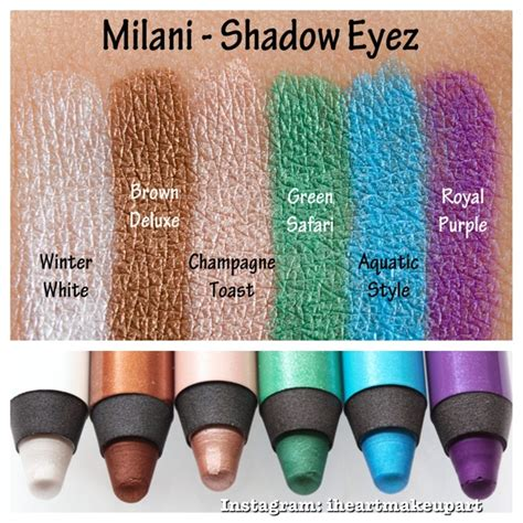 Milani Shadow Eyez by Milani Shadow Eyez Pencil Swatches Fashionista