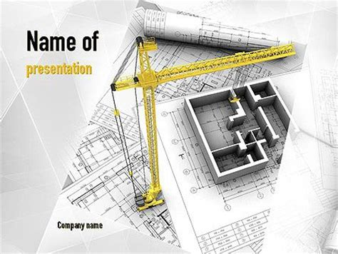 12 Best Images About Construction Presentation Themes On Pinterest Architecture Modern And Powerpoint Templates Building Construction