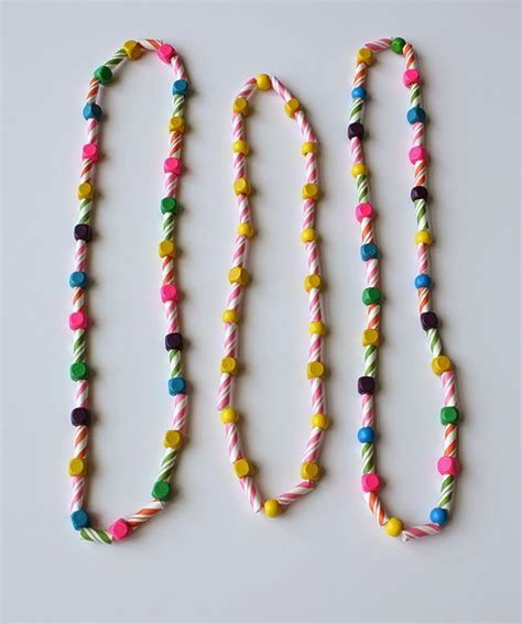 Make A With Stripes Jewelry by Diy Striped Straw Necklaces Make These Simple Necklaces