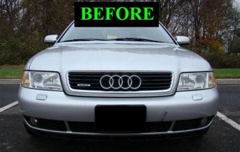 1996 2005 audi a4 s4 lower chrome grill grille kit 1997