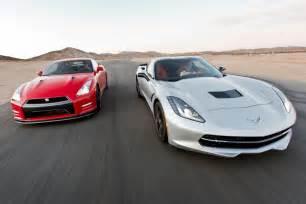 Nissan Gtr Vs Corvette 2014 Chevy Corvette Stingray Vs 2014 Nissan Gt R Track
