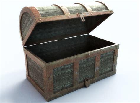 Max And Treasure Box treasure chest empty 3d model max obj 3ds fbx