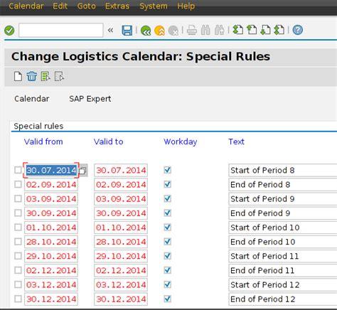 use of usual calendar in sap sap expert