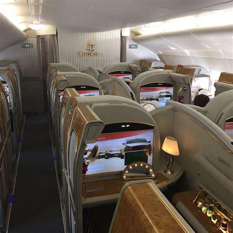 emirates a380 class cabin review emirates a380 class dallas to dubai one