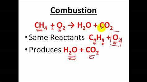 Combustion Reactions Chem Worksheet 10 5