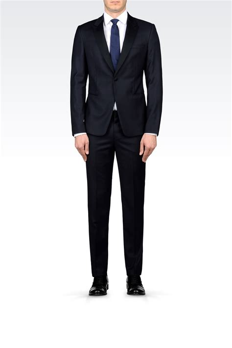 emporio armani tuxedo in worsted wool in for men