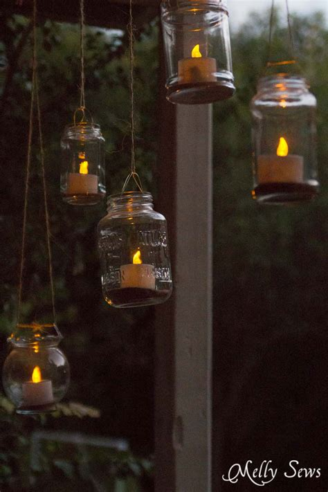 Outdoor Tea Lights Hanging Solar Tea Lights Melly Sews