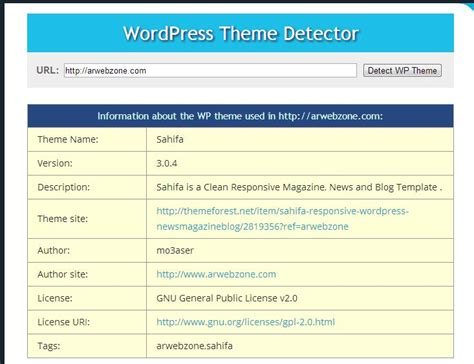 Wordpress Themes Detector | wordpress theme detector detect wordpress themes plugins