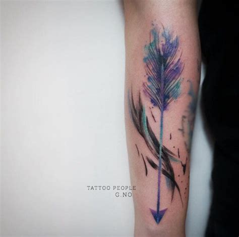 watercolor tattoo g teborg best 20 watercolor arrow ideas on