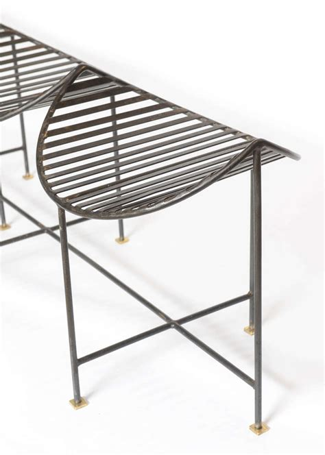 iron bench seat awesome four seat slatted iron and brass bench for sale at