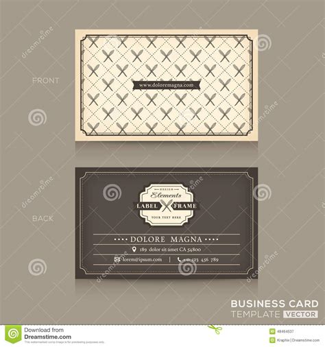 classic business card template free classic business card design template stock vector image