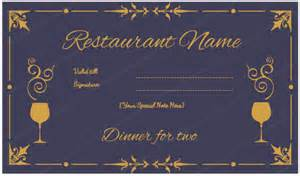 Dinner Certificate Template Free dinner for two certificate template