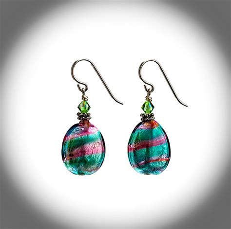 glass jewellery designs primavera twist earrings contemporary glass