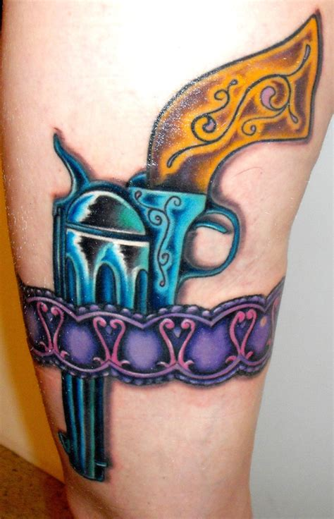 gun holster tattoo design gun tattoos