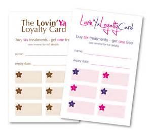 beauty salon loyalty cards