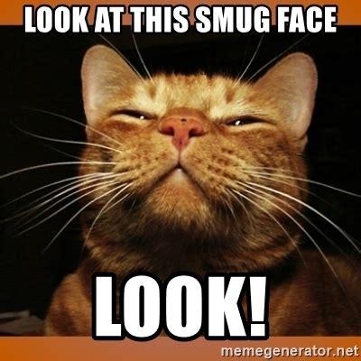 smug face  kitty smug meme generator