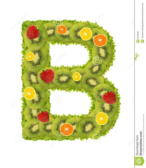 b fruity alphabet from fruit b royalty free stock images image