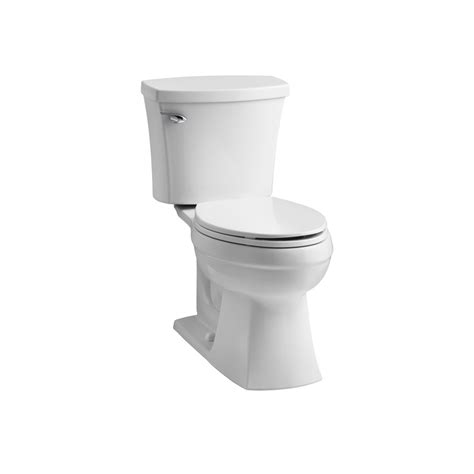 lowes bathroom toilets shop kohler elliston white 1 28 gpf 4 85 lpf 12 in rough