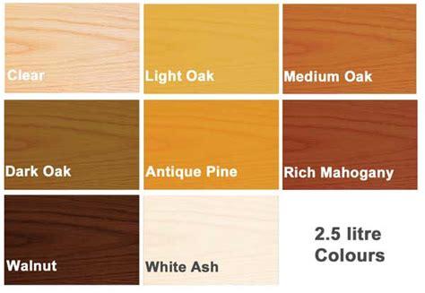 varnish colour chart