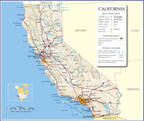 map of california usa with cities california map california state map california road map