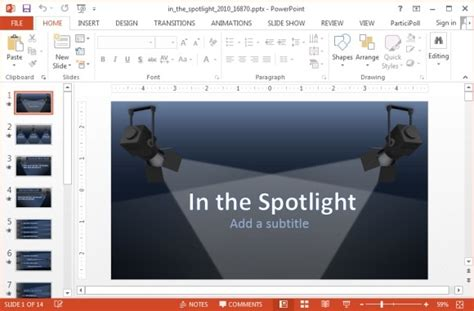 Animated Spotlights Powerpoint Template Powerpoint Presentation Spotlight Powerpoint Template