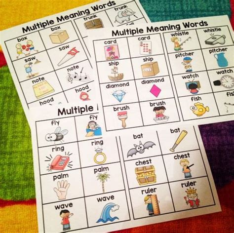 multiple meaning word printable games multiple meaning words games 2nd grade multiple meaning
