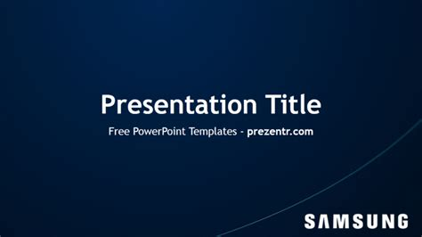 templates for logo presentation free samsung powerpoint template prezentr powerpoint