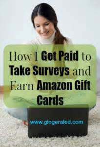 Take Surveys For Amazon Gift Cards - how i get paid to take surveys and earn amazon gift cards gingeraled