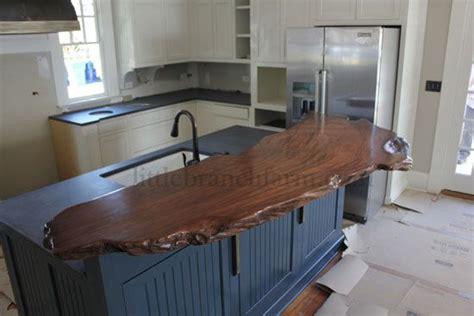 redwood bar top wood countertop handcrafted using a burl wood slab cut