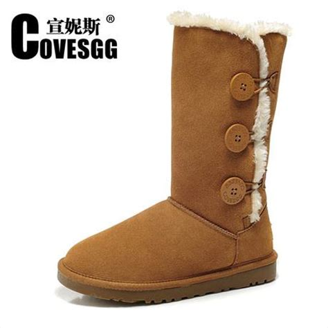 2015 covesgg genuine leather high boots snow boots
