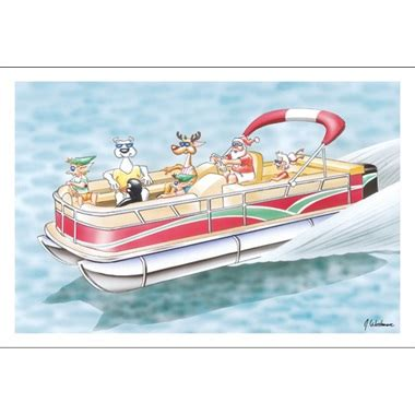 pontoon cards pontoon boating is fun paul oxman publishing